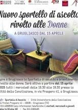 NUOVO SPORTELLO DI ASCOLTO RIVOLTO ALLE DONNE A GRUGLIASCO DAL 15 APRILE